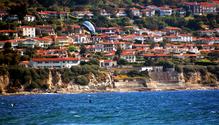 Kite surfer in the bay