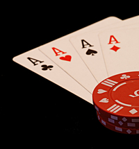 Poker chips cards and dice 2
