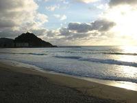 Sunset in Zurriola Beach, Sain
