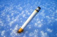 cigarette In Snow