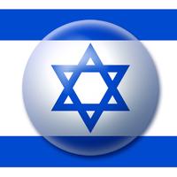 Israel flag button 2