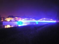 blue bridge in Opole City 1