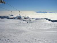 ski above clouds