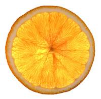 Orange slice backlighted