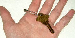key in palm of my hand