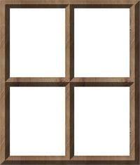 Blank Window Frame