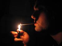 Having a cigarette 1