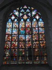painted glas window