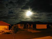 moon shine behind clouds