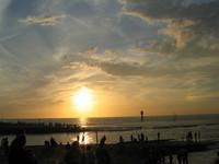 sea sky sun going down 2