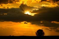 Sunset with heavy Clouds
