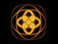 Flame geometric ornament
