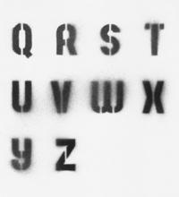 Stencil Alphabet (Q-Z)