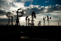 Windmills at Sunset 1