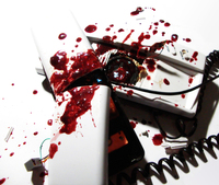 bleeding phone