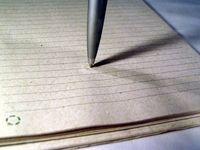 macro of pen on paper