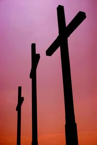 crosses against the sky