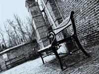 Cold Bench in a park