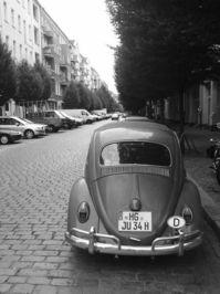 berlin - old beetle in bw