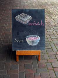 Cafe Sidewalk Sign