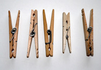 Five Clothespins