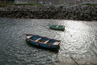 chalanos no porto de Ribadeo
