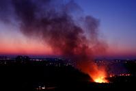 fire in a field 1