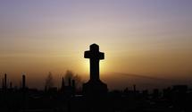 sunrise in cementery