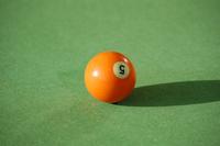 Orange 5-ball pool ball