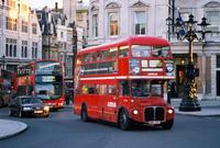 Traffic on the London street