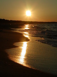 Sonnenuntergang am Ostseestran