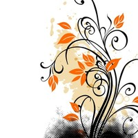 Grunge floral 1