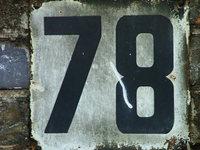 Number 78 1