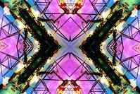 Tetraeder Kaleidoscop by night