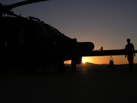 Helo,Hh-60,Pavehawk,Silouette,Helocopter,Sunrise,Katrina,Hurricane