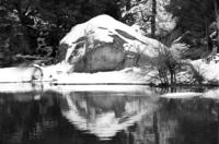 Snowy Rock Reflected