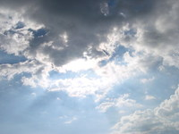 Nuvens sob o sol