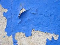Blue cement brick wall