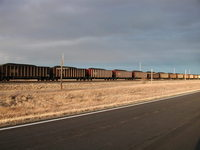 coal train in Montana