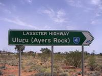 Lasseter Highway Roadsign