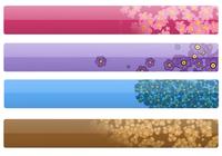 Floral Web Headers