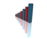 3D Financial graph 3