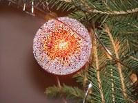 Glowing christmasball