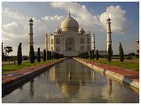 Taj Mahal, late afternoon lights