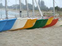 boats on the beach at dunsboro
