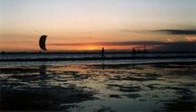 kitesurfer Sunset