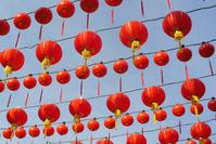 dangling red lanterns