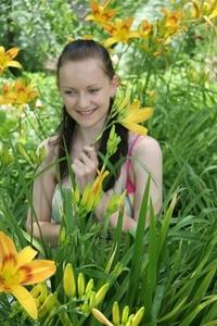Girl in Flowers 3