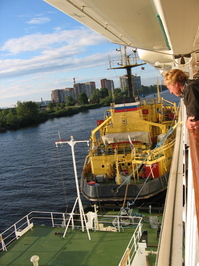 russian tugboat
