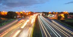 Motorway at twilight